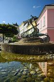Фонтан в городе svitavy, Чешская Республика — Стоковое фото