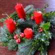 Stock Photo: Advent wreath with four candles