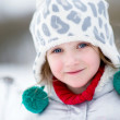 Winter portrait of adorable smiling child girl — Stock Photo #6782513