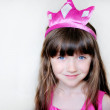 Beauty little princess with pink tiara — Stock Photo #6850569