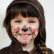 Adorable child girl with painted face — Stock Photo #6867417