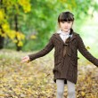 Stock Photo: Portrait of adorable child girl in autumn forest