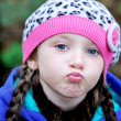 Royalty-Free Stock Photo: Portrait of funky little child girl wearing beret