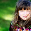 Autumn portrait of pretty little girl — Stock Photo