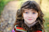 Portrait of funky little child girl — Stock Photo