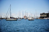 Ships and yachts in Newport, USA — Stock Photo