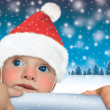 Santa Claus  baby- Happy New Year - Stock Photo