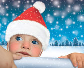 Santa Claus baby- Happy New Year — Stock Photo