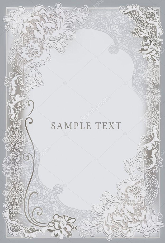 wedding invitation frame stock photo art321 6915557