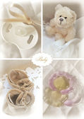 Set of baby objects — Stock Photo
