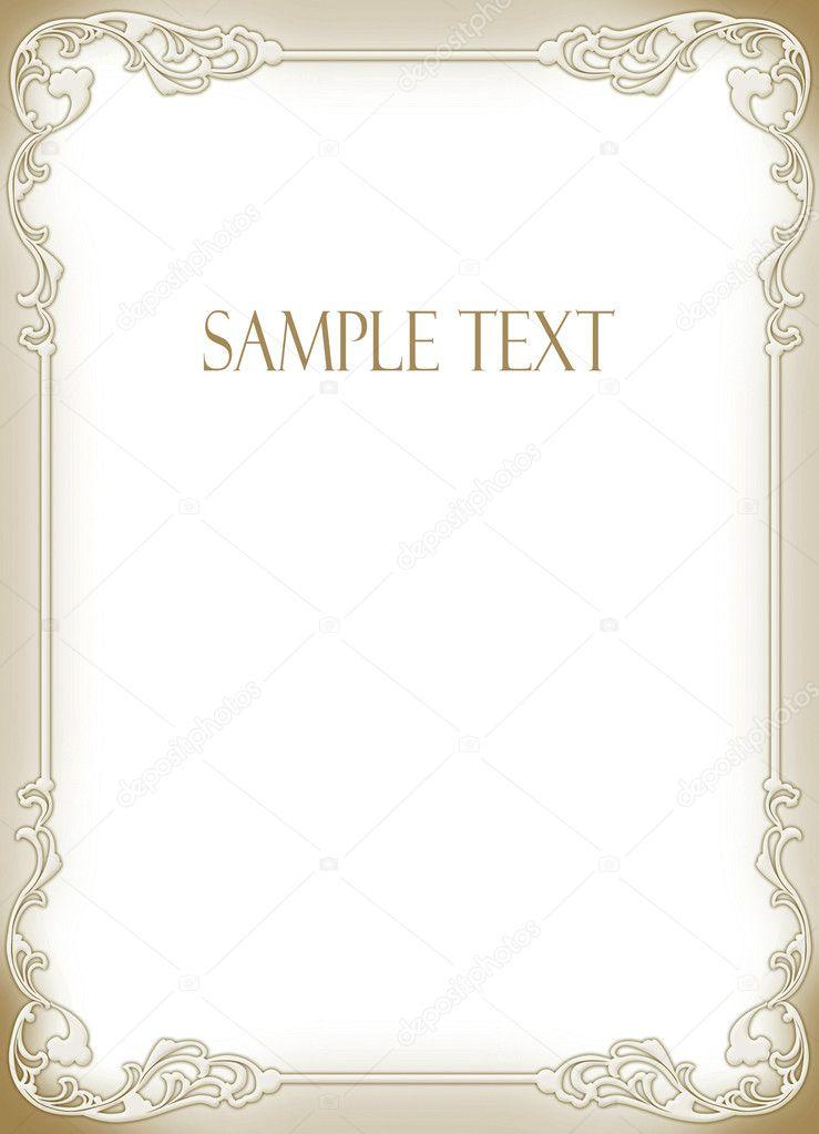 wedding invitation frame stock photo art321 7105843