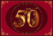 50 anniversary, jubilee, Happy birthday — Stock Photo