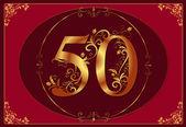 50 anniversary, jubilee, Happy birthday — Stock Photo