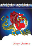 Santa dragon — Stock Photo