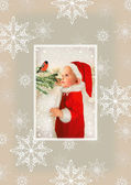 Bebé de navidad santa — Foto de Stock