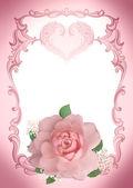 Moldura rosa — Fotografia Stock