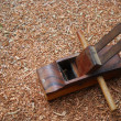 Old carpenter's wood planer — Stock Photo