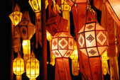 Thai lamp in Chiang mai north Thailand — Stock Photo