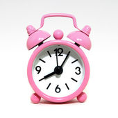 Old fashioned alarm clock on white background — Foto Stock