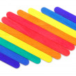 Colorful wood ice-cream stick — Stock Photo