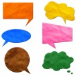 Stock Photo: Speech Bubbles plasticine