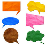 Speech Bubbles plasticine — Stock Photo