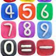 Plasticine letter 0-9 — Stock Photo