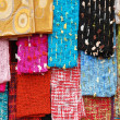 Beautiful colors scarfs - Stock Photo