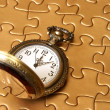 Watch and Puzzle — Stock Photo