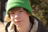 Teen Boy Outside — Stock Photo