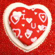 Stock Photo: Heart Shaped Cake
