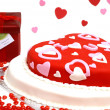 Heart Shaped Cake - Stock Photo