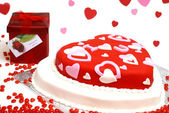 Heart shaped kuchen — Stockfoto