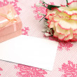 Blank Romance Notecard — Stock Photo