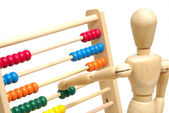 Using an Abacus — Stock Photo
