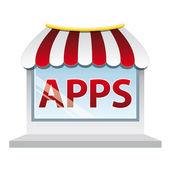 Apps shop window — Stock Vector
