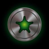 Polar Icons - xmas star — Stock Vector