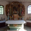 Old Wooden Church Interior - Photo