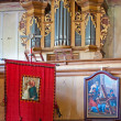 Old Wooden Church Interior — Stock Photo