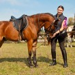 Stock Photo: Horse and Equestrienne