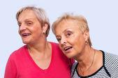 Portrét dvou žen — Stock fotografie