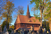Alte Holzkirche — Stockfoto