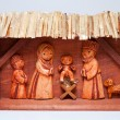 Wooden Christmas Crib — Stock Photo
