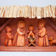 Wooden Christmas Crib — Stock Photo