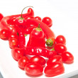 Red Hot Chilli Peppers and Cherry Tomatoes — Stock Photo