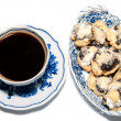 Cup of Coffee with Cakes — Stok fotoğraf
