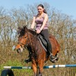 Equestrian - Horse Jumping — Stock Photo