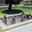Stock Photo: Slave Sculptures in Zanzibar