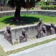 Slave Sculptures in Zanzibar - Stock Photo