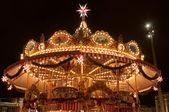Children Merry-go-round at Christmas Market in Dresden — Stock Photo